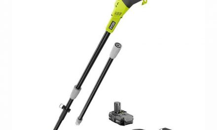RYOBI Cordless Pole Saw 8 in. 18-Volt Lithium-Ion 1.3 Ah Battery Charger