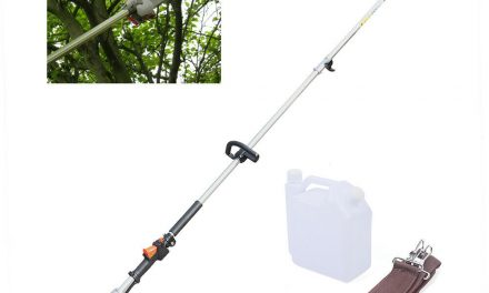 3-HP 2-Stroke Gas-Powered Chain Pole Saw Tree Trimmer w/ Extension Pole 11ft