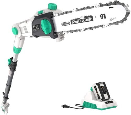 4 LiTHELi 40V Cordless Pole Saw 10 inches with 2 5AH Battery and Charger