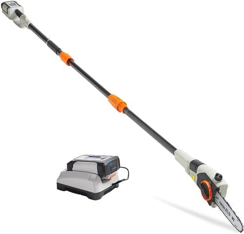 8 VonHaus 40V Max 8 Cordless Pole Saw with Telescopic Pole for Cutting Branches - 4.0Ah Lithium-Ion Battery and Charger Kit Included