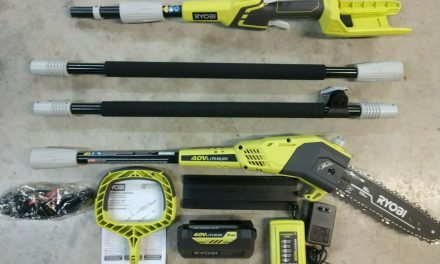 RYOBI 40V Cordless 9.5ft Pole Saw w/ 2.0aH Battery & Charger