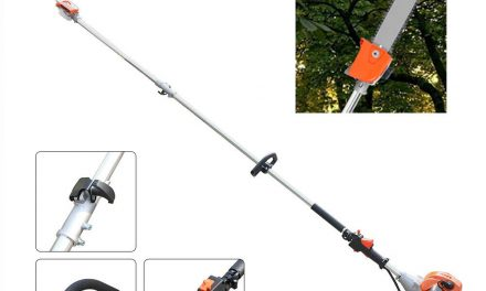 2 Stroke 43CC Gas Pole Saw Chainsaws Trimming Pruning Cutting Tool 2.3m
