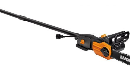 WORX WG309 8 Amp 10″ 2-In-1 Electric Pole Saw & Chainsaw with Auto-Tension