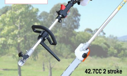 42.7CC Gas Pole Saw Pruner Reach 11ft+ Extension Automatic Chain Oiler 12″ Blade