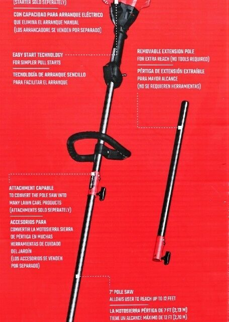 Craftsman 25-cc 2-cycle 10-in Gas Pole Saw New