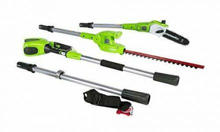 Greenworks 8.5′ 40V Cordless Pole Saw with Hedge Trimmer Attachment, Battery Not